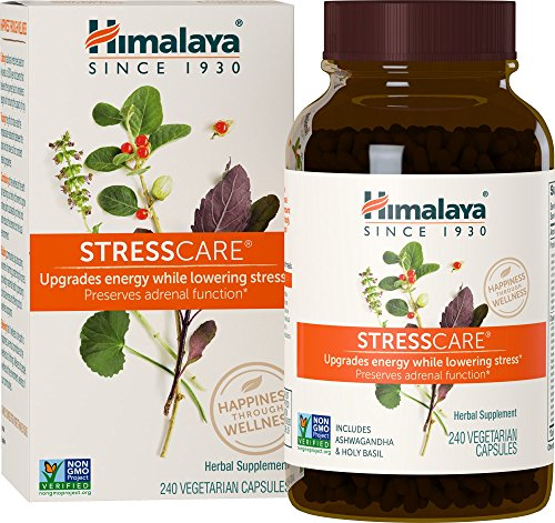 Himalaya StressCare with Ashwagandha & Gotukola for Natural Stress Relief, 240 Count, 2 Month Supply