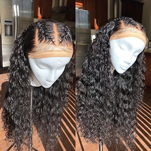 Lace Front Human Hair Wigs Deep Wave Curl Full Lace Human Hair Wigs For Black Women 8A Pre Plucked 130% Brazilian Lace Front Wigs (14 Inch Full Lace (Curl Lace Front Wig)