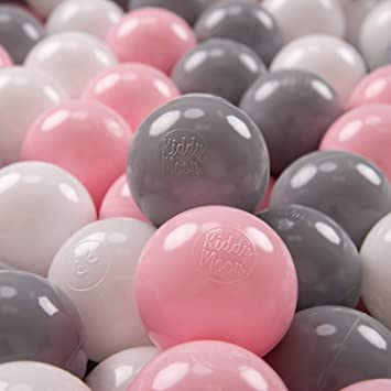 KiddyMoon 200 /∅ 7Cm Bolas Colores De Pl/ástico para Piscina Certificadas para Ni/ños Rojo