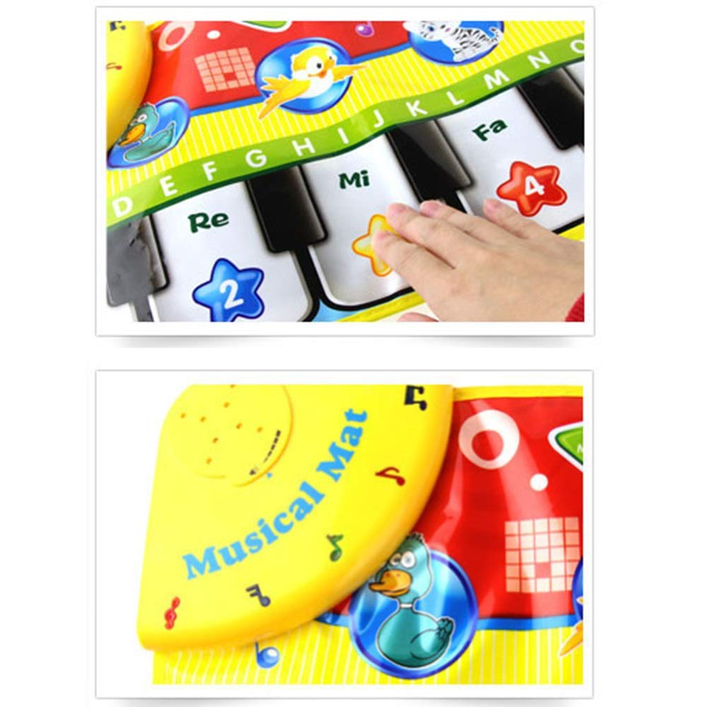 Play Keyboard Mat Foldable 28 Inches 8 Keys Cartoon Kids Design Electronic Musical Keyboard Playmat Floor Music Carpet Animal Keyboard Piano Dancing Activity Mat Step And Play Instrument Toys For Todd by GAOCAN-gq (Image #4)