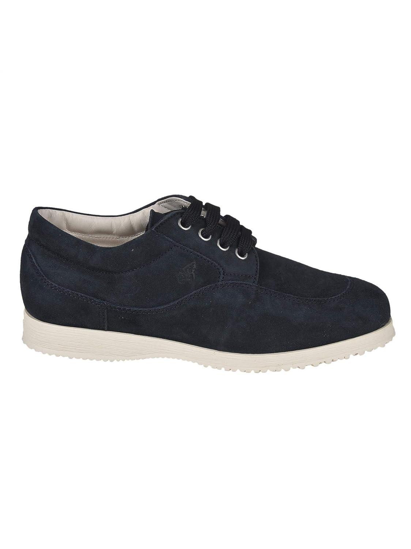- Hogan Women's HXW00E00010CR0U805 bluee Suede Sneakers
