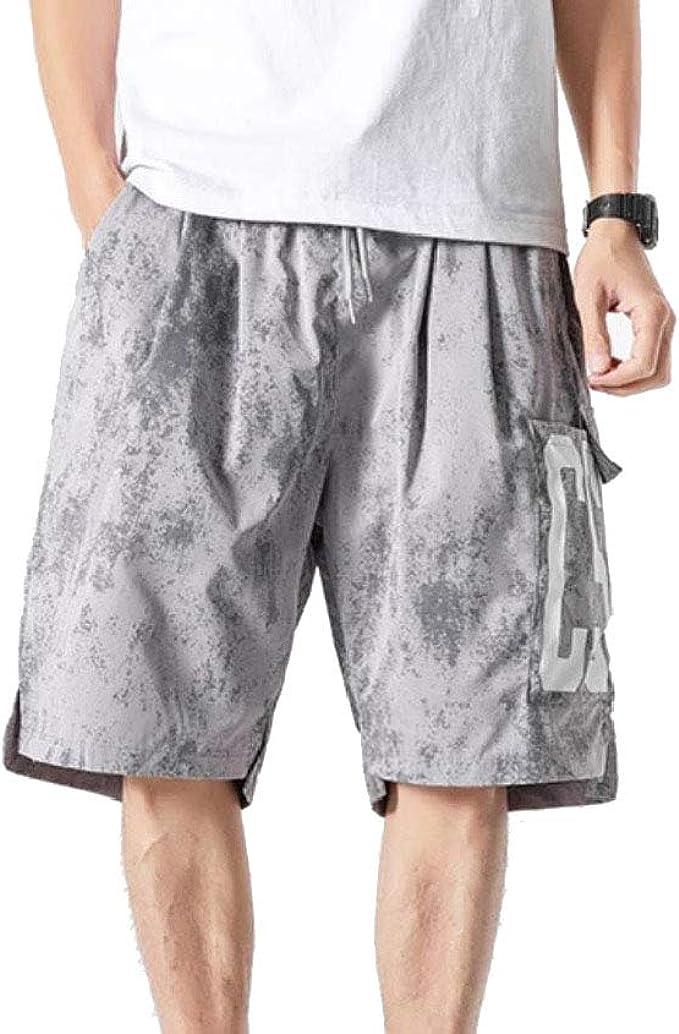 VITryst Men's Relaxed Fit Oversized Beach Multi-Pockets Cargo Trousers