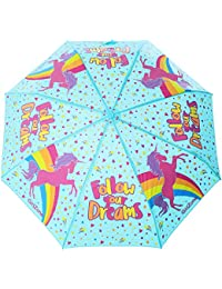 GirlZone: Umbrella for Kids Color Changing Unicorn Kids Umbrella, Great Gift for Girls