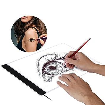 Tatuaje Tablero de seguimiento LED A4,Portable Tatuaje Dibujo ...
