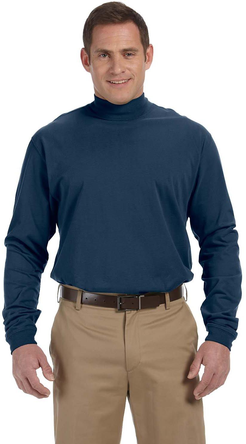 Devon & Jones Unisex-Adult Sueded Cotton Jersey Mock Turtleneck D420