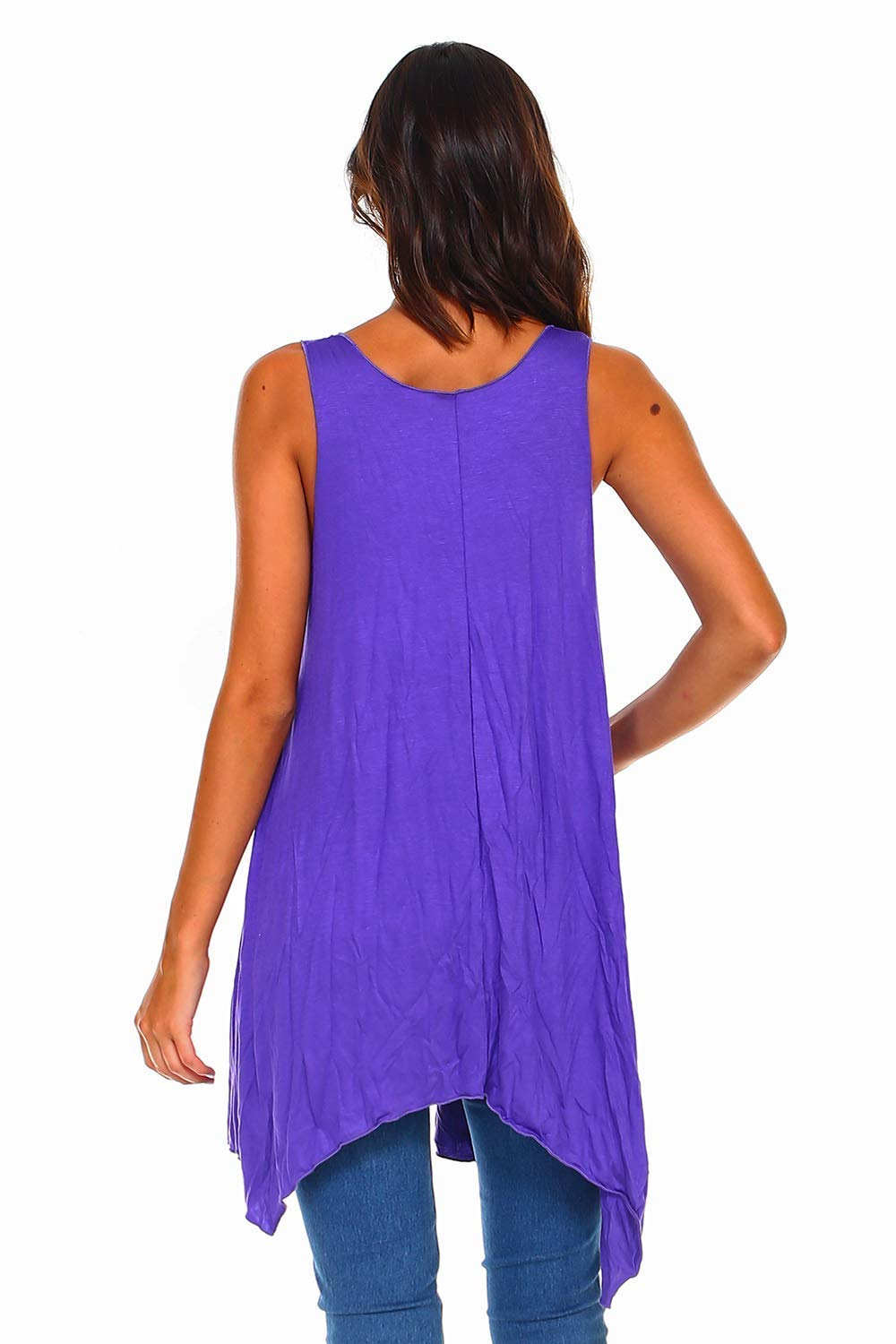 14b9a26784e Amazon.com: Simplicitie Women's Sleeveless Swing Flare Tunic Dress Tank Top  - Regular and Plus Size - Purple - Made in USA: Handmade