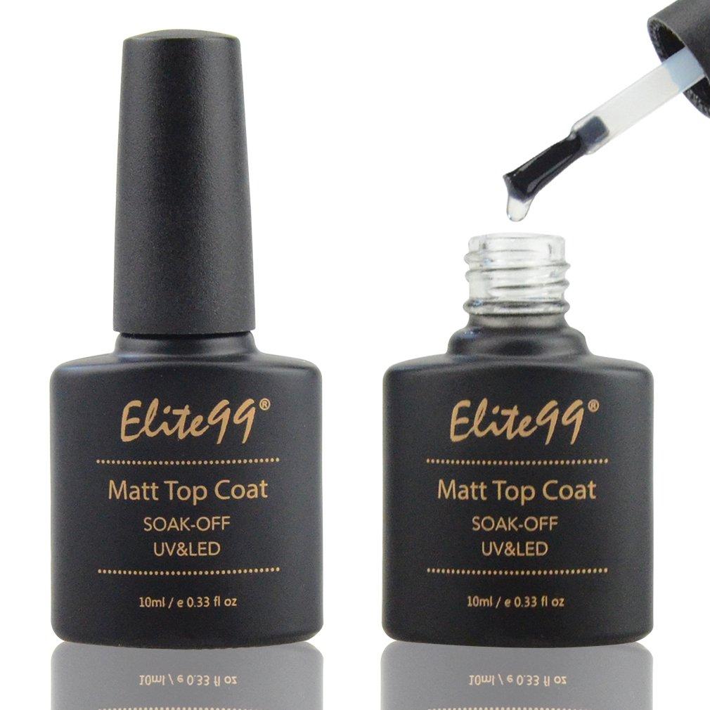 Amazon.com : Elite99 Matte Top Coat Soak Off UV LED Gel Polish Nail ...