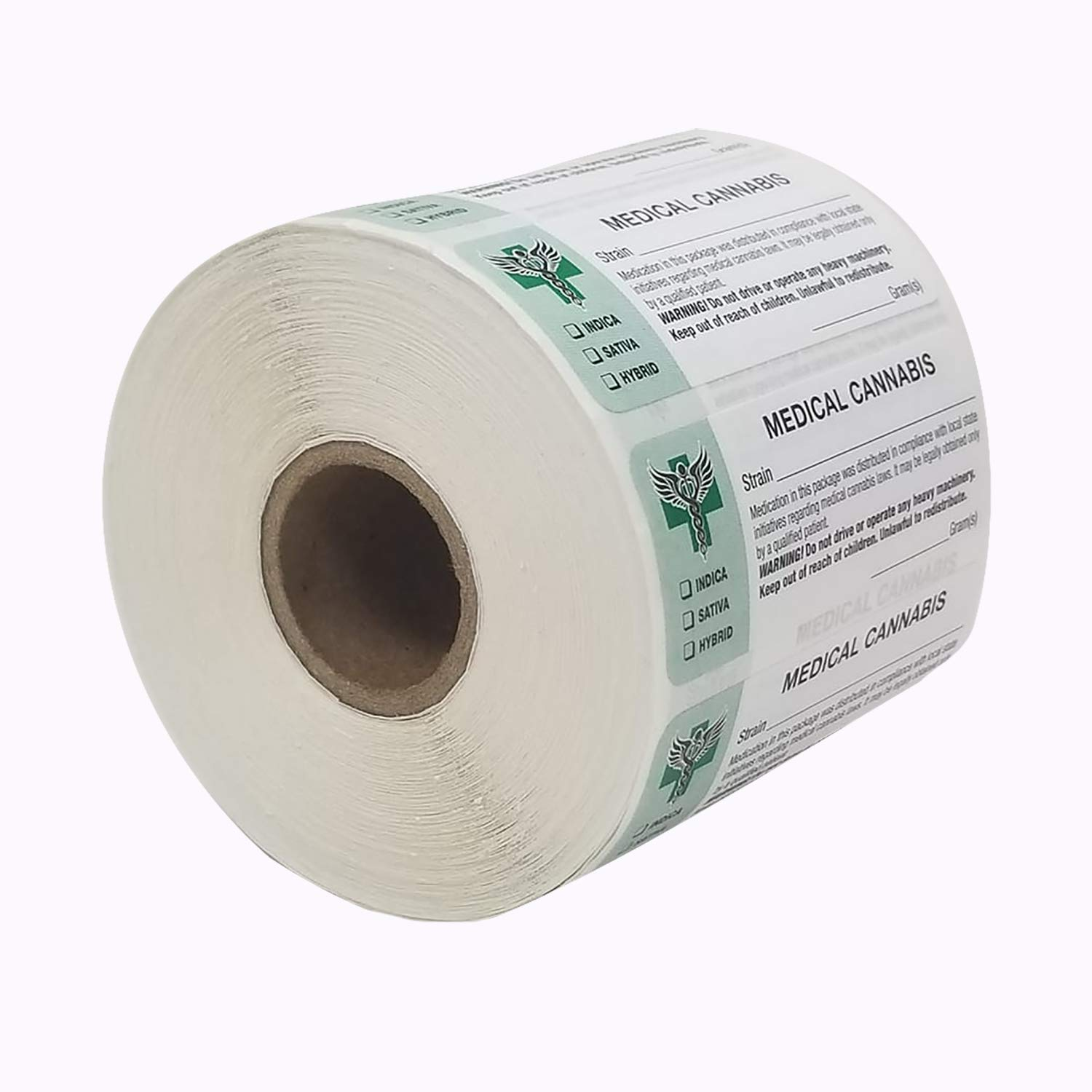 State Compliant Leaf Stickers Generic Medical Identifications Labels 1000 Labels per roll