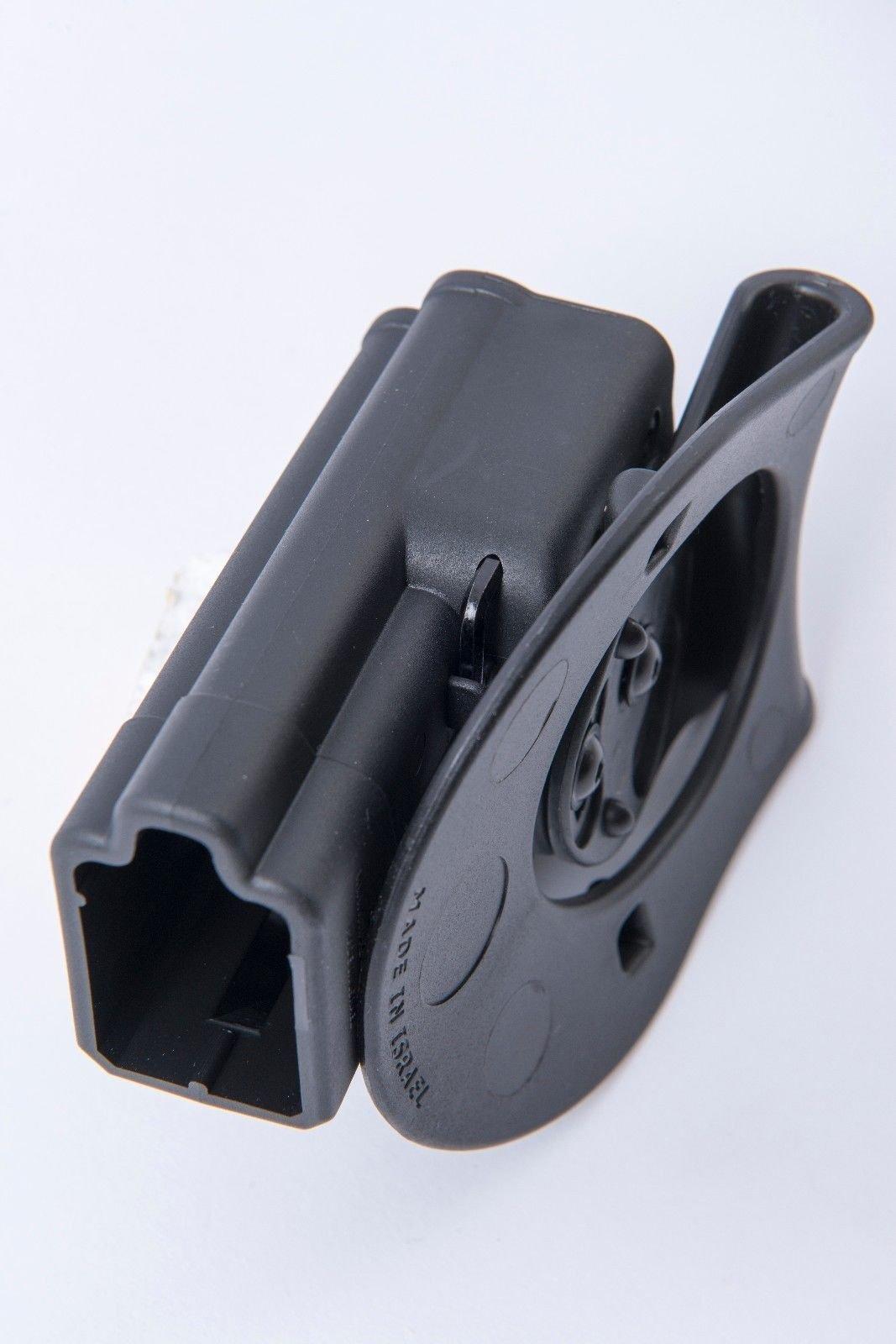 Orpaz Glock Gun Professional Holster Polymer With 360 Rotation Paddle & Belt Adjustment Screw For Models 17/19/22/23/25/26/31/32/34/35
