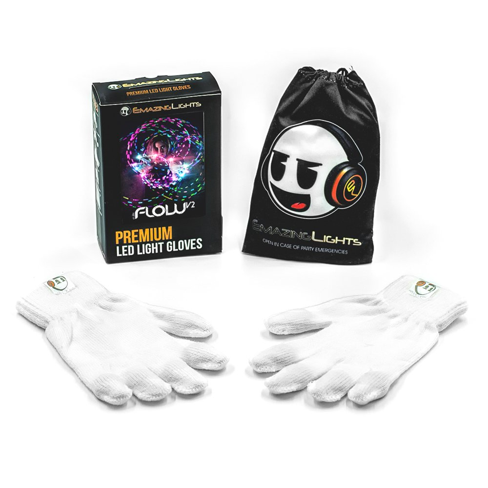 EmazingLights Elite Flow Light Up Glove Set - Flashing Finger Light LED Gloves for Raves & Light Shows Featured on Shark Tank by EmazingLights (Image #3)