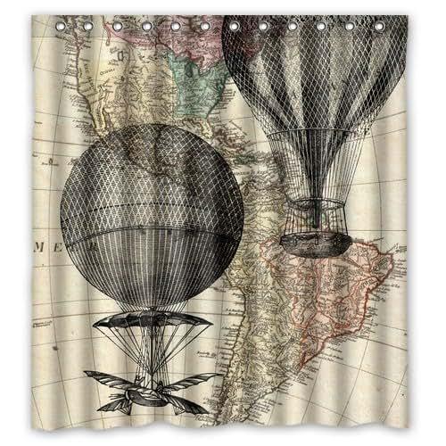 Amazon.com: Hot Air Balloon Shower Curtain