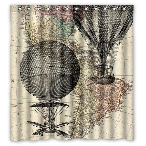 Amazon Hot Air Balloon Shower Curtain