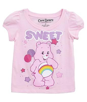 a98d6565 Carebears Girls' Toddler Girls' Care Bear Sweet Puff Sleeve T-Shirt