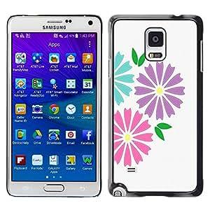 King Case - FOR Samsung Galaxy Note 4 - Retro art Pattern - Caja protectora de pl??stico duro Dise?¡Àado