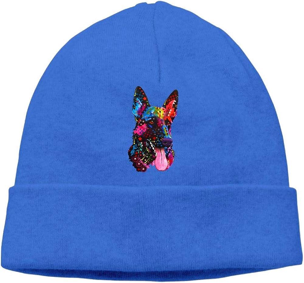 Oopp Jfhg Colorful German Shepherd Beanie Knit Hat Skull Caps Unisex RoyalBlue