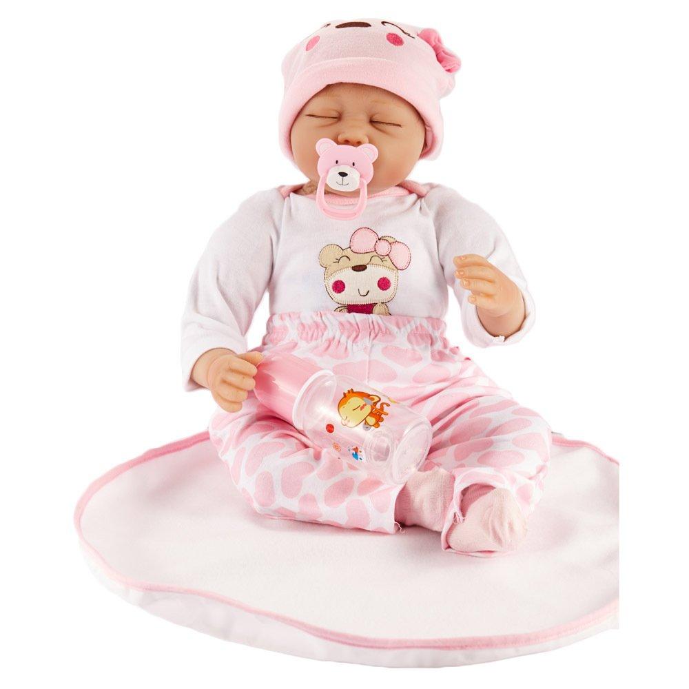 venta con alto descuento LIJUN Renacimiento Muñeca Simulación Baby Doll Doll Doll 55cm Ojo Cerrado Muñeca, 55cm  almacén al por mayor