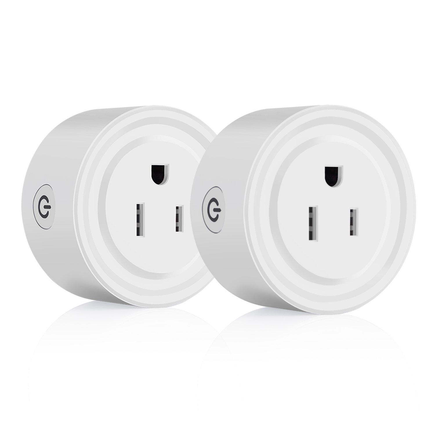 WIFI Smart Plug Bearham Mini Outlet Compatible with Amazon Alexa Google Assistant IFTTT, Timer Function Wireless Remote Control via Smartphone, No Hub Required