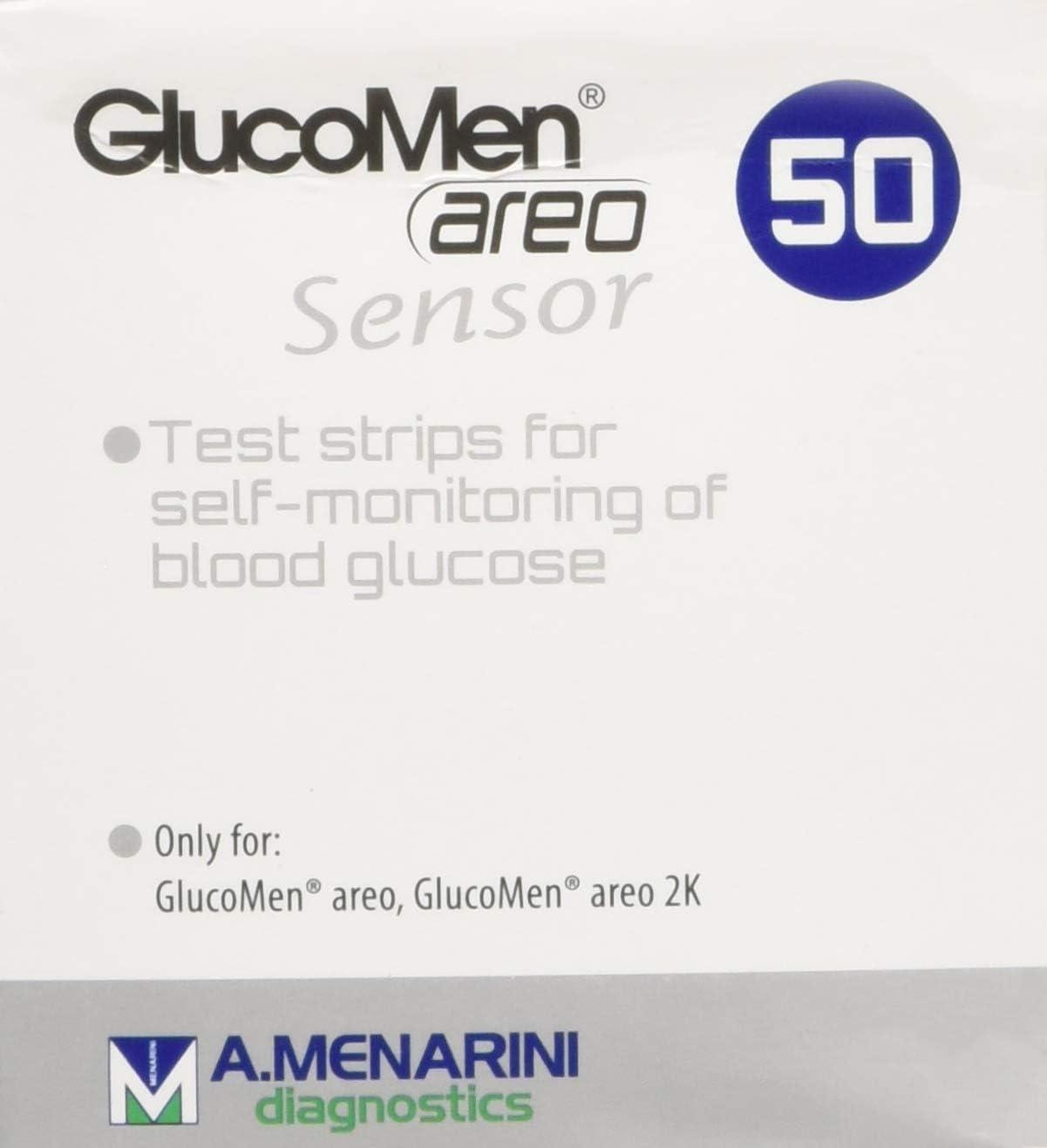 Tiras reactivas de glucosa para la diabetes Glucomen AREO (50 unidades)