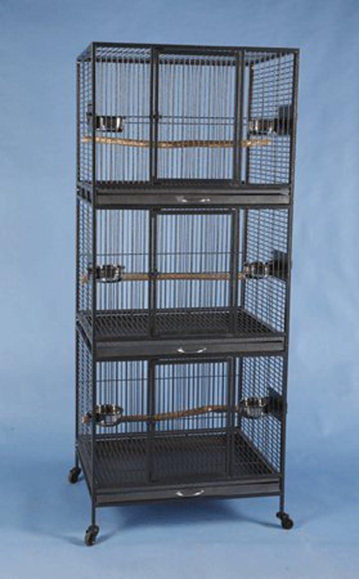 Three Tier Stackable Multiple Bird Parrot Animal Pet Cage - 30
