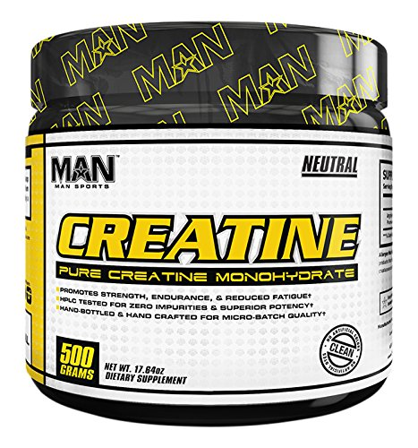 MAN Sports 100% Pure Creatine Monohydrate Powder, Neutral, 500 Gram