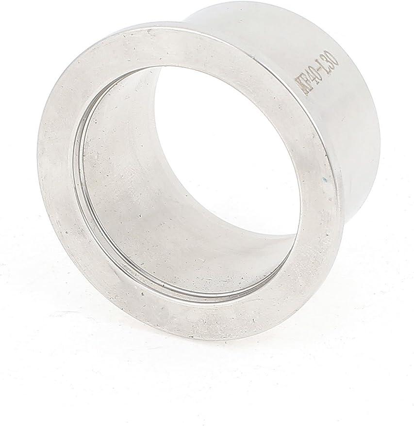 sourcing map KF16 304 acciaio inossidabile 20mm//0,78 altezza Dia tubo vuoto saldatura ghiera 2pz