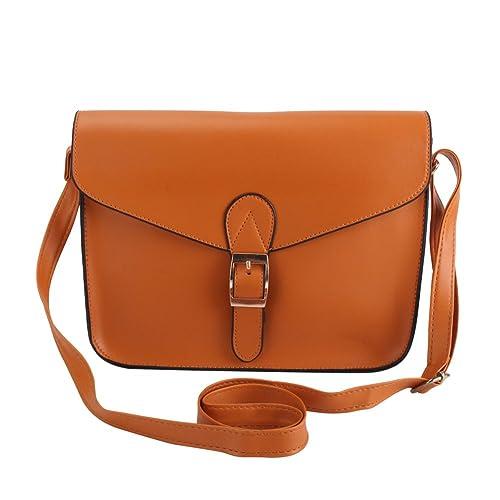 styleinside® Mujer Muchacha Bolsa de Mensajera Marrón Diseño de Moda Hermosas Conveniente para Viajes Compras Fiesta: Amazon.es: Zapatos y complementos