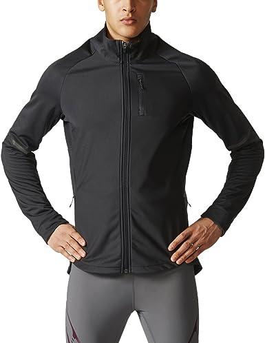 Línea del sitio Barra oblicua Triatleta  Amazon.com: adidas – Camiseta de running Ultra chamarra de energía: Clothing