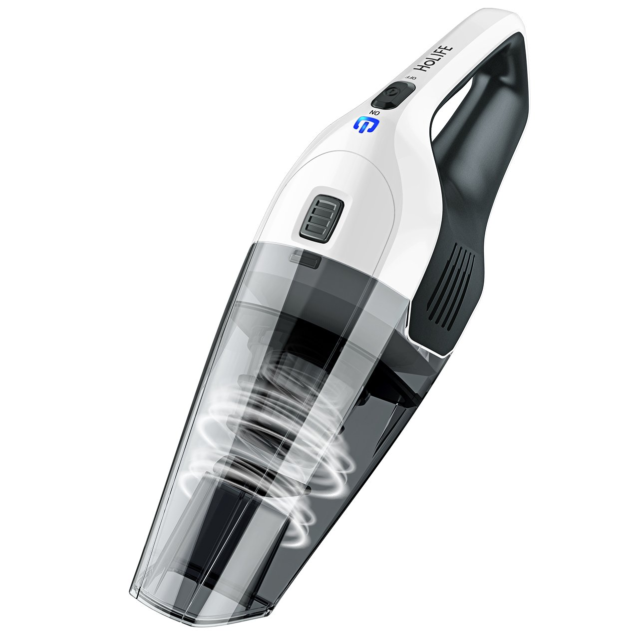 Cordless Hand Vacuum Cleaner, HOLIFE Handheld Vacuum Portable Car Vacuum Cleaner Lightweight Hand Vac with 4Kpa Suction, Rechargeable 2200mAh Lithium Battery, Multifunctional Attachments, HEPA Filter