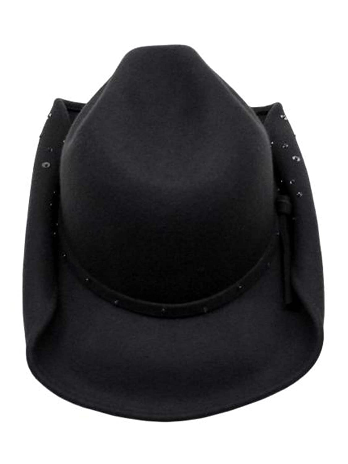 Luxury Divas Gray Wool Shapeable Cowboy Hat with Sequin Detail