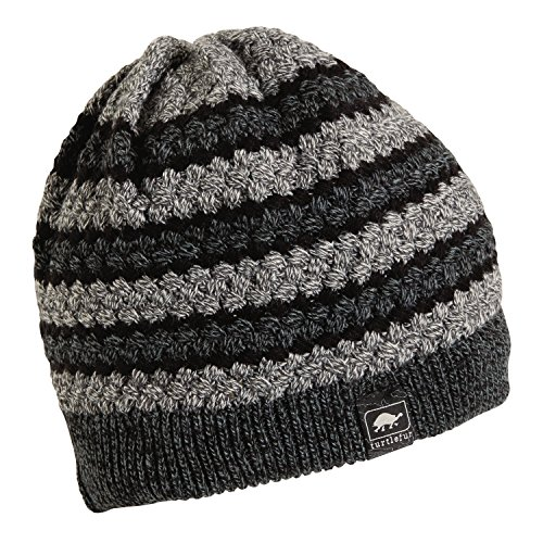 Turtle Fur On Belay Men's Fleece Lined Cable Knit Beanie Graphite -