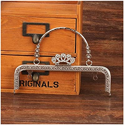 GuoFa Meta Frame Purse Frame Kiss Clasp Lock Squared Design Bag Clutch Frame DIY Craft 5PCS 20X6.5CM