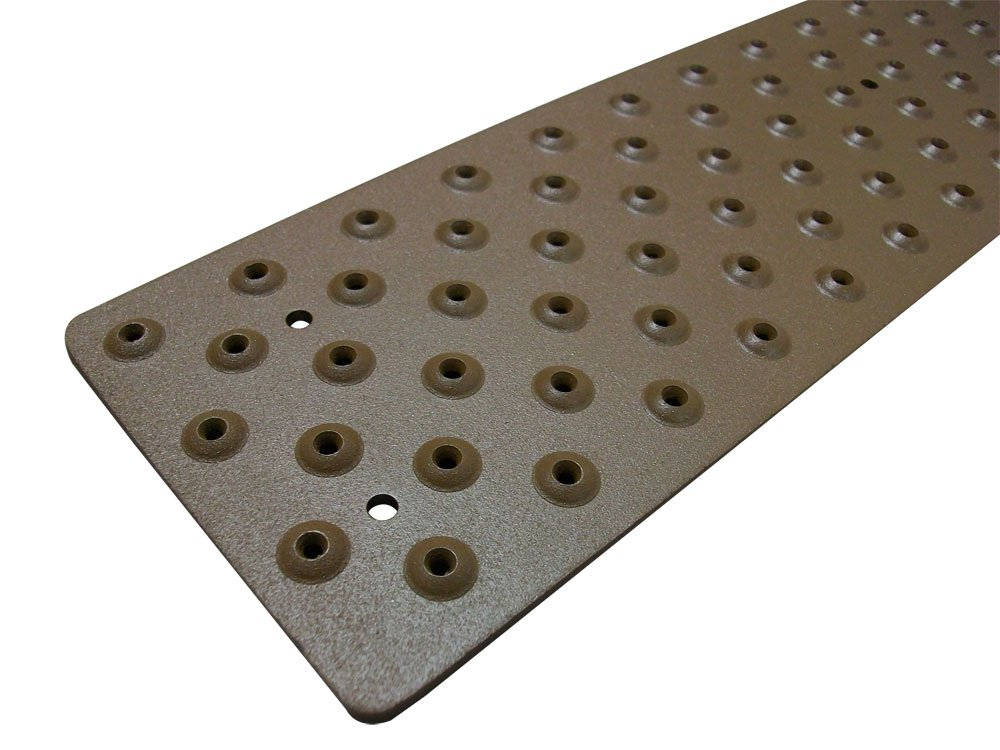 Handi Treads Non Slip Aluminum Stair Tread Powder Coated Brown 3.75 x 30 with Color Matching Wood Screws Each