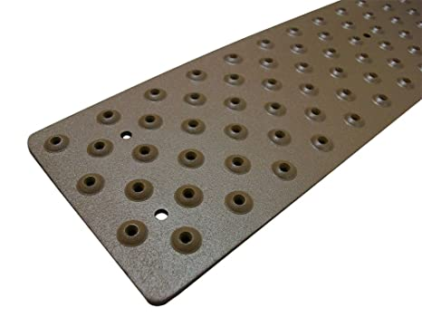 Handi Treads Non Slip Aluminum Stair Tread, Powder Coated Brown, 3.75u0026quot;  X