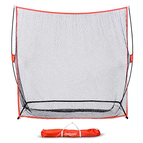 GoSports Golf Practice Hitting Net | Huge 7' x 7' Personal Driving Range for Indoor or Outdoor Swing Practice | Designed by Golfers for Golfers