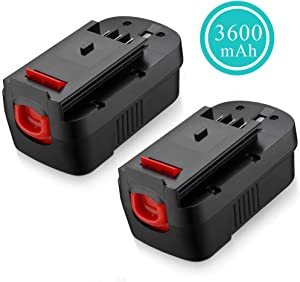 HPB18 Replacement for Black and Decker 18 Volt Battery 3.6Ah Ni-Mh HPB18-OPE FSB18 Compatible with Black & Decker 18V 244760-00 FS180BX A1718 FS18FL FSB18 FEB180S Firestorm Cordless Power Tool 2 Pack
