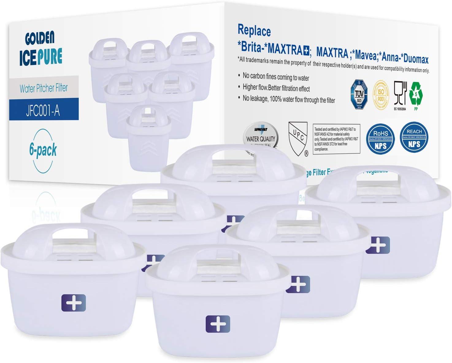 Filtro de agua de repuesto para Brita Maxtra+, Brita Maxtra, Mavea, Anna Duomax por Golden ICEPURE (6 unidades) 6: Amazon.es: Hogar