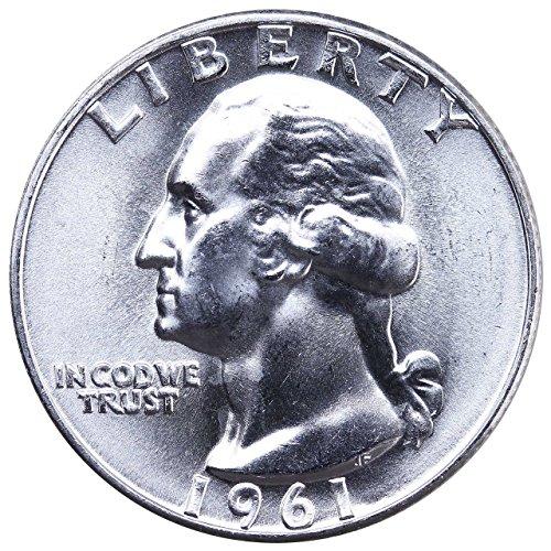 1961 1962 1963 1964 GEM BU 90% Silver Washington Quarters Quarter Brilliant Uncirculated US Mint