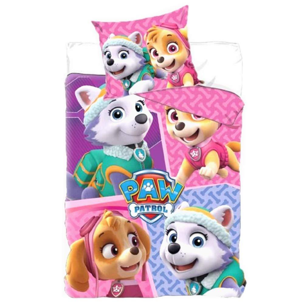 Paw Patrol Skye/& Everest Single Duvet Cover /& Pillowcase Set,Kids Duvet Cover,Official Licensed