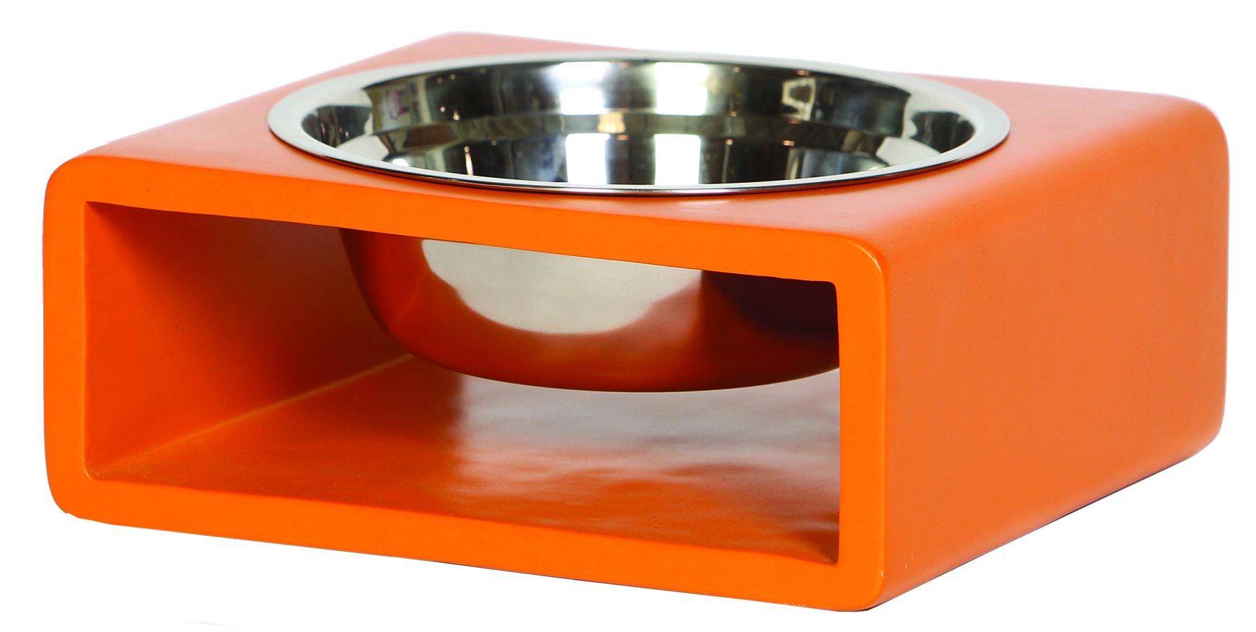 Unleashed Life Mid Century Phorm Orange Dish, Large