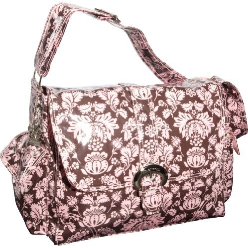 Kalencom Laminated Buckle Bag, Toile Chocolate/Pink