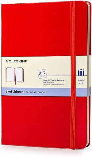 Moleskine QP063R - Art Sketchbook - Large - Scarlet Red