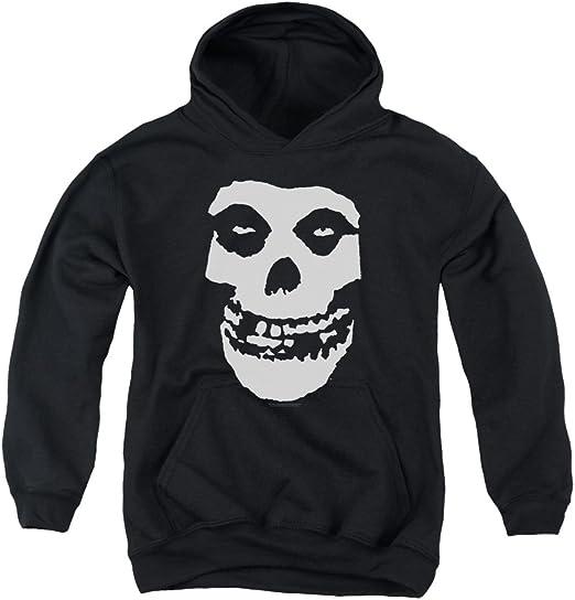 New Boys Black and White Skull Print Hooded Sweatshirt