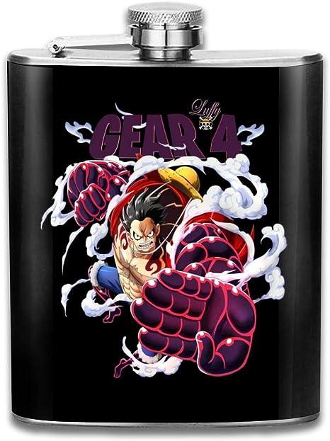 One Piece Gear Flachmann//Taschenflasche Edelstahl tragbar 200 ml mit 4 L/öchern
