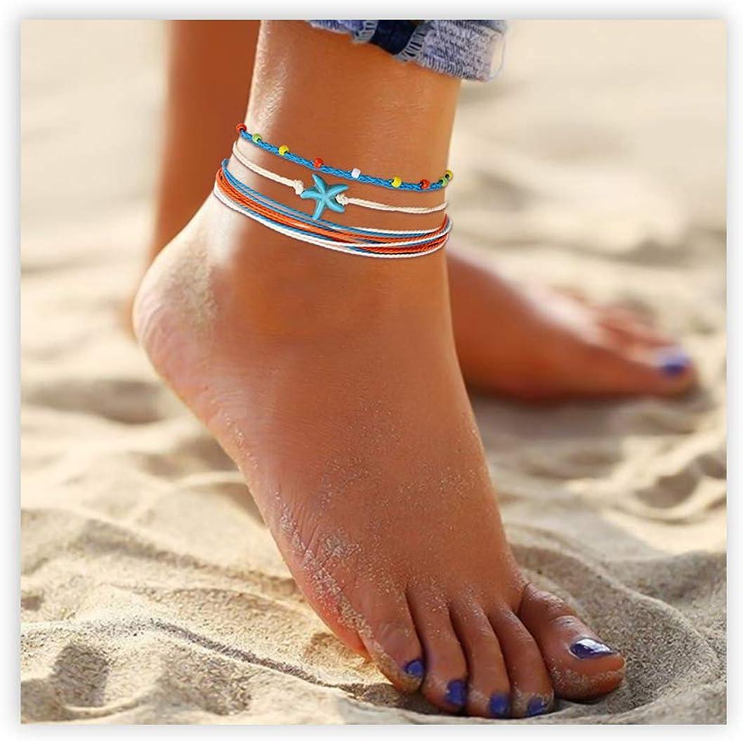Colorful Adjustable Anklet Womens Surfer Anklet Boho Summer Anklet Waterproof Beach Anklet Friendship Anklet Gift for Girlfriend