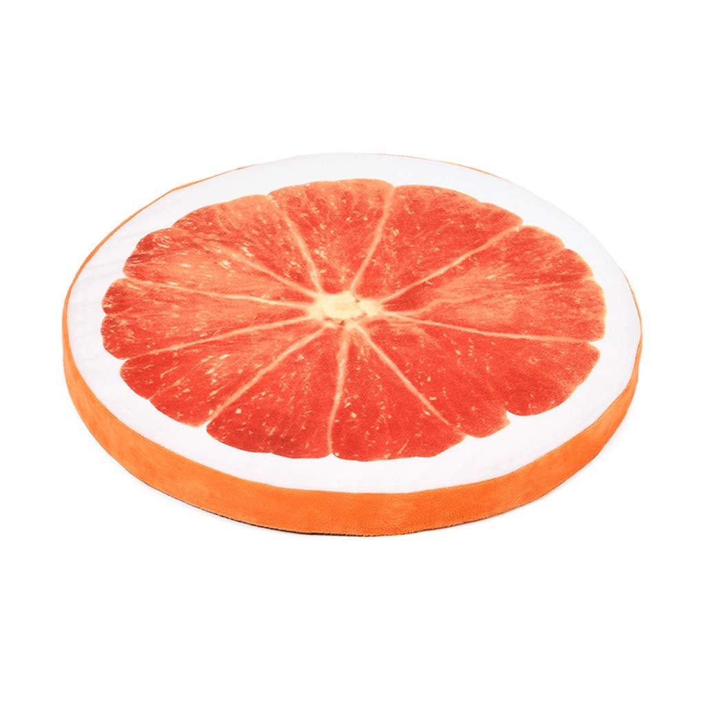 orange C_-1X Pet Nest, Fruit Shape Pet Mat, Kennel, Pet Mat, Dog Mat, Dog Bed, Cat House, (Watermelon orange) (color   orange)