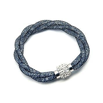 a520bd567 Stardust Bracelets Mesh Bracelet with Magnetic Clasp Encrusted Stardust  Bracelet: Amazon.it: Casa e cucina