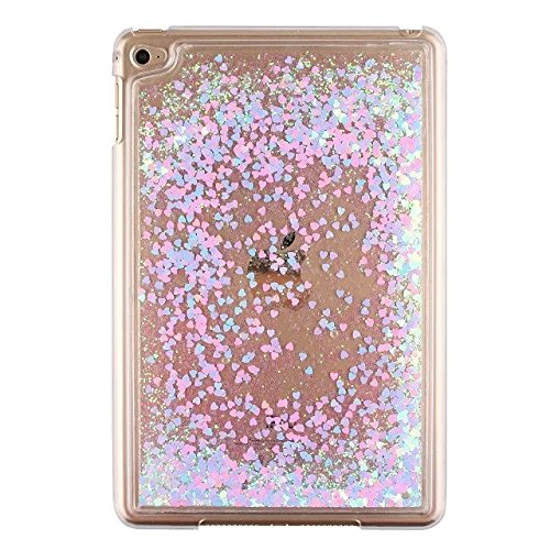 Liquid Case for Apple iPad Mini 4,Creative Design Bling Glitter Shiny Quicksand Sparkle Stars and Flowing Transparent Plastic Amazon.com: