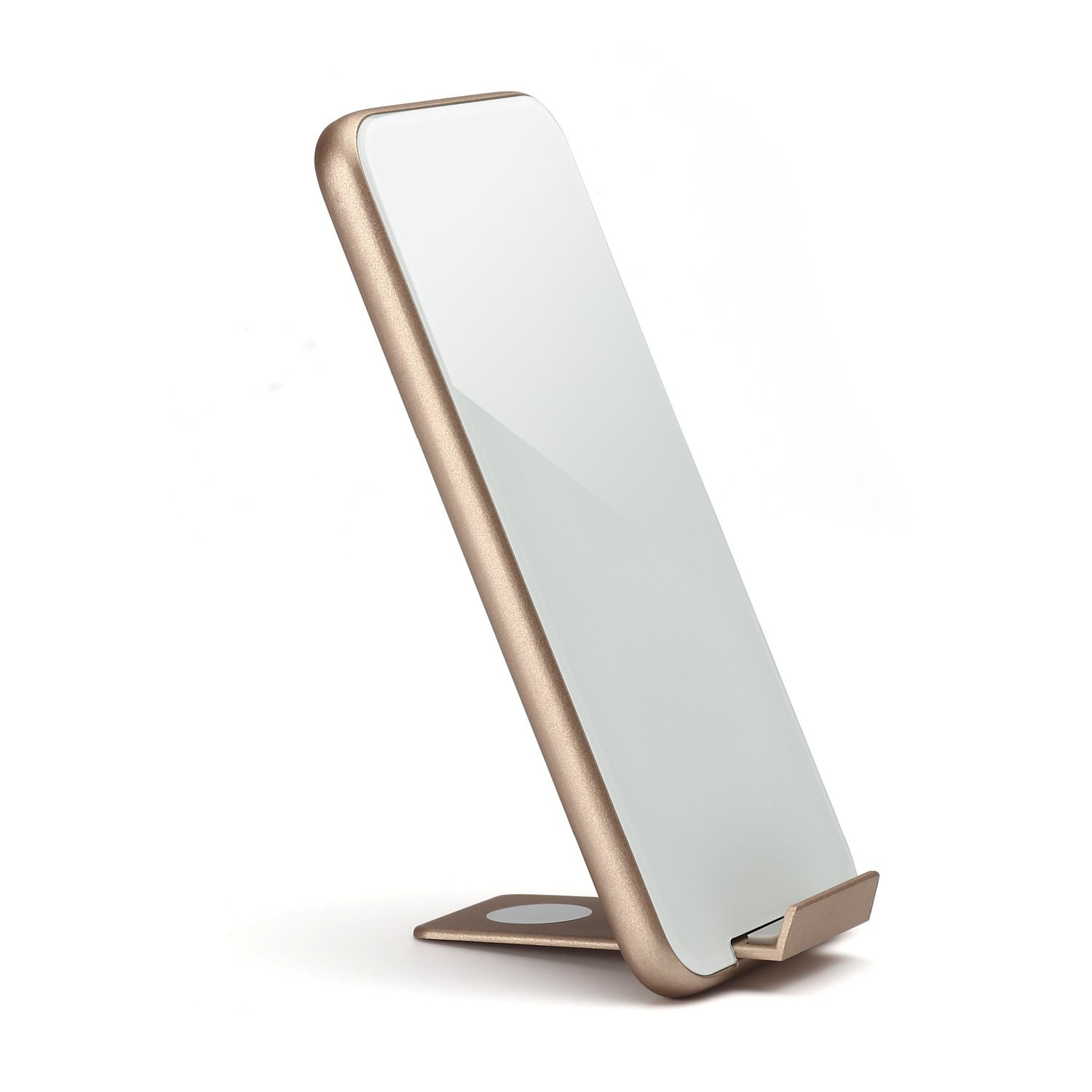 (10W Fast)Tooploo iPhone X Wireless Charger , Type C interface ,QI Fast Wireless Charging Pad Stand for iPhone X iPhone 8 and Plus, Samsung Galaxy Note8 S8 S8 Plus and all QI-Enabled Devices (Gold)