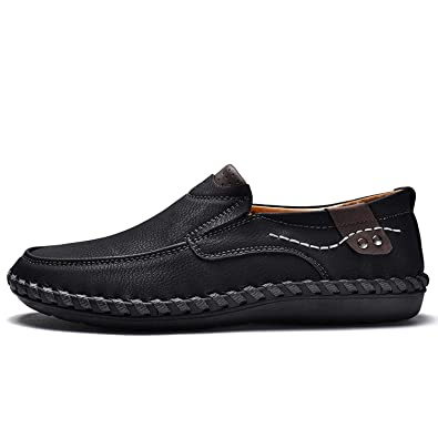 bfeaa9e9ba7920 Fragrancety Men Casual Driving Shoes 2019 Leather Loafers Shoes Men Fashion  Handmade Soft Breathable Moccasins Flats