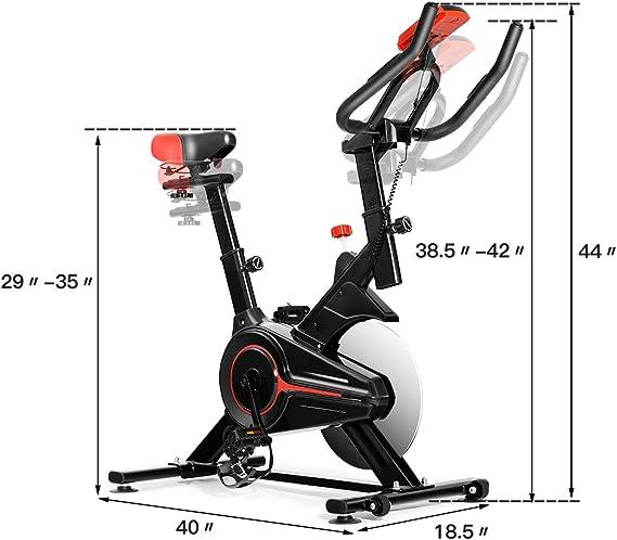 Gymax Bicicleta estática Interior y Exterior, con Pantalla LED ...